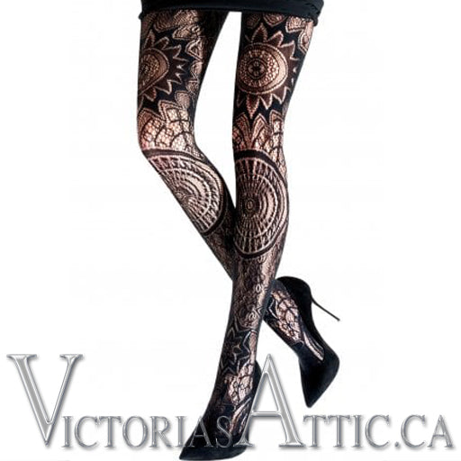 Emilio Cavallini Fashion Tights Designed with Crochet Look