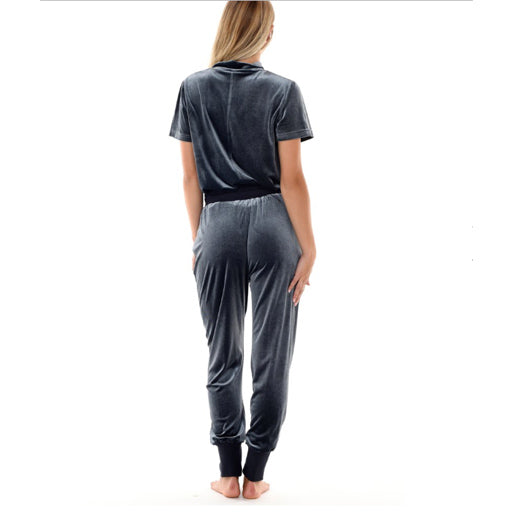 Paper Label Zoe Pin Tuck Jogger Midnight Slate