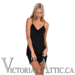 Paper Label Vivian Lace Cami Black