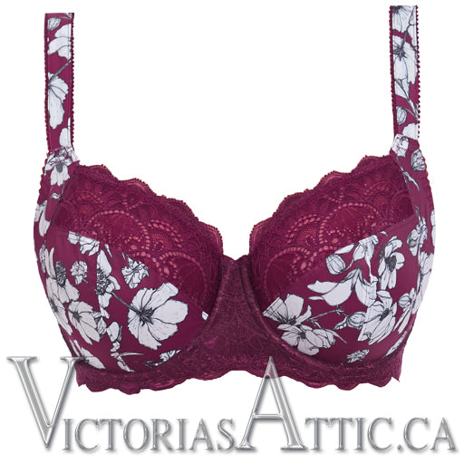 Fantasie Olivia UW Side Support Balcony Bra - Black Cherry