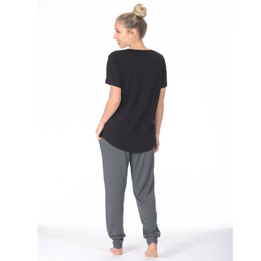 Paper Label Evelyn Sweetheart Tee - Black