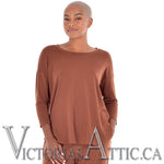 Paper Label Rachel Long Sleeve Top Hazelnut