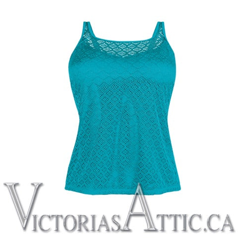 Amoena Brazil Pocketed Tankini Top Jade