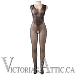 OY Flower Pattern Fishnet Bodystocking
