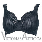 Fit Fully Yours Serena Lace UW Plunge Bra Navy