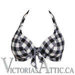Freya Totally Check Banded Halter Bikini Top