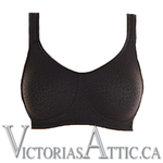 Amoena Mona Seamless Wireless Mastectomy Bra Black