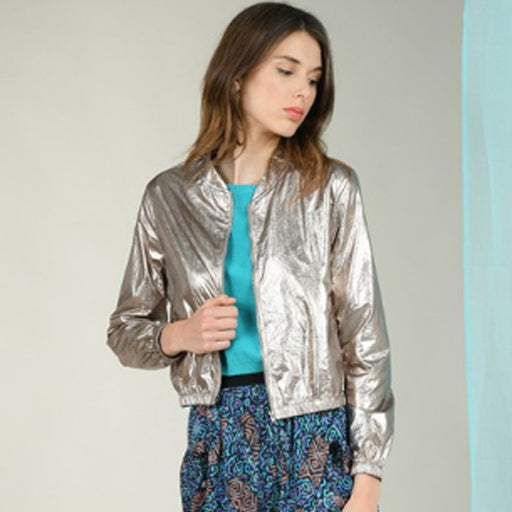 Molly B Metallic Zipped Jacket
