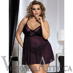 OY Tie Back Lace Purple Baby Doll