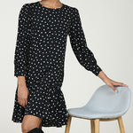 Molly Bracken Woven Dress Black