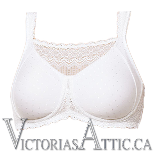 Amoena Dana Wireless Mastectomy Camisole Bra White