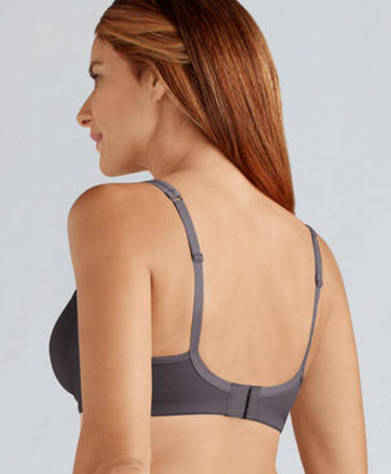 Amoena Mara Seamless Wireless Mastectomy Bra Dark Grey