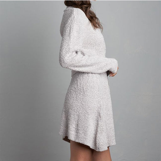 Lemon Plush Towel Robe