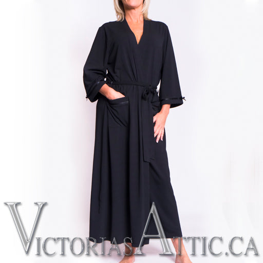Long Satin Ribbon Robe