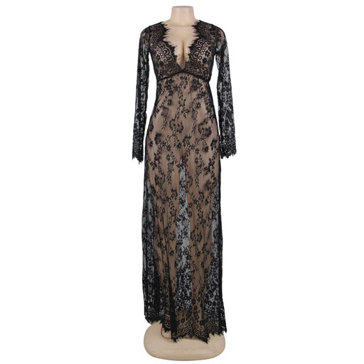 OY Long Lace Gown