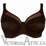 Goddess Keira Underwired Banded Bra Chocolate