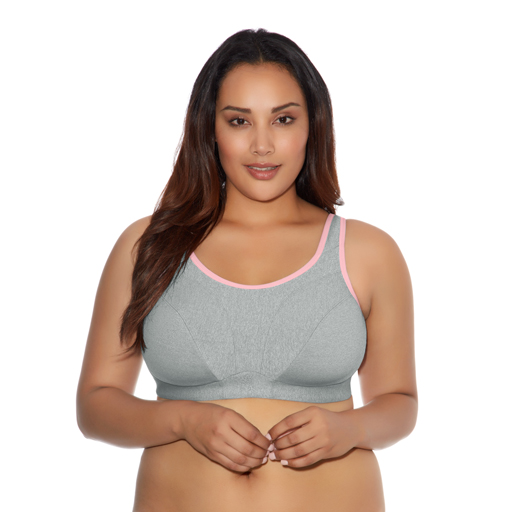 Goddess Wireless Sports Bra Heather Grey