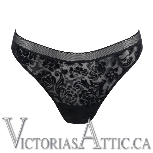 Prima Donna All Night Thong Black