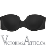 Wacoal Red Carpet Full Busted Strapless Uw Bra Black