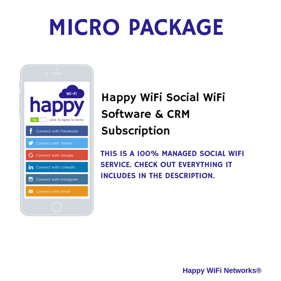 Micro Package - 100% MANAGED SOCIAL WIFI