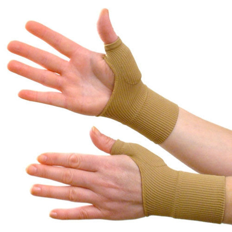 1 Pair Beige Color Arthritis Gloves Medical Wrist Thumbs support