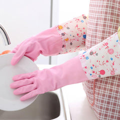 Dish Wash Cleaning Gloves Hand Protector Scrubber