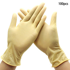 100 Disposable Powder Free Free Vinyl Gloves Food Medical Surgical Hygiene