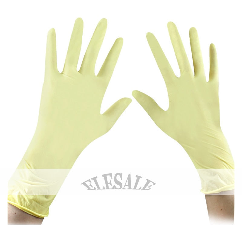 100Pcs/50Pair Disposable Latex Gloves Medical Laboratory