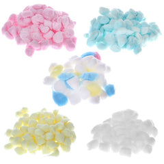 100Pcs/50Pcs Natural Breathable Lightweight Cotton Blend Wool Balls