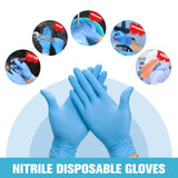 100pcs/box Blue Nitrile Disposable Wear Resistance Chemical Laboratory Gloves