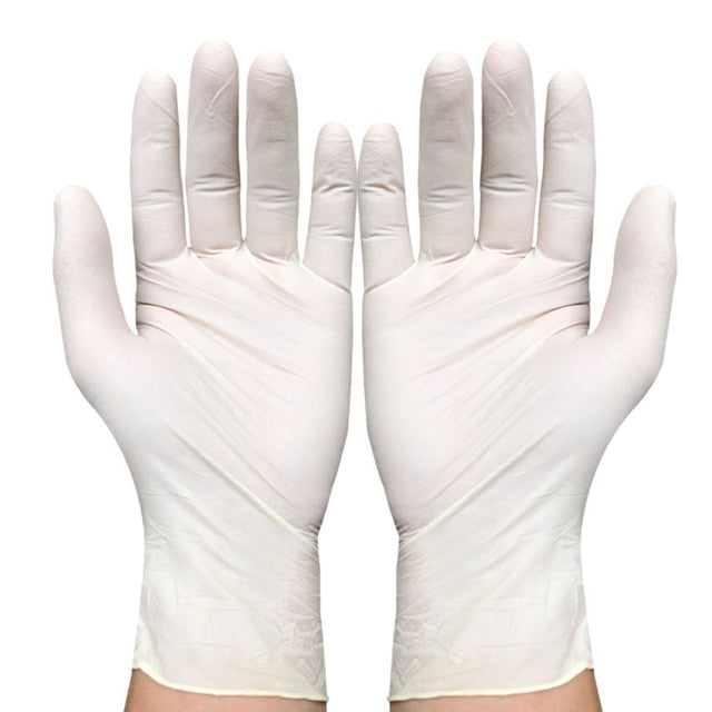 100pcs/lot Disposable Latex Gloves Disposable Gloves Exam
