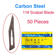 #11 #23 Scalpel Set Carbon Steel Blades Surgical Knife Blades