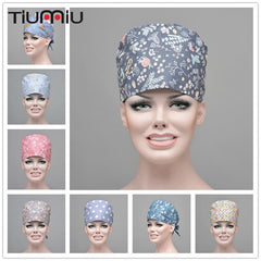 Floral Printed Cute Scrub Caps for Clinic & Hospitals