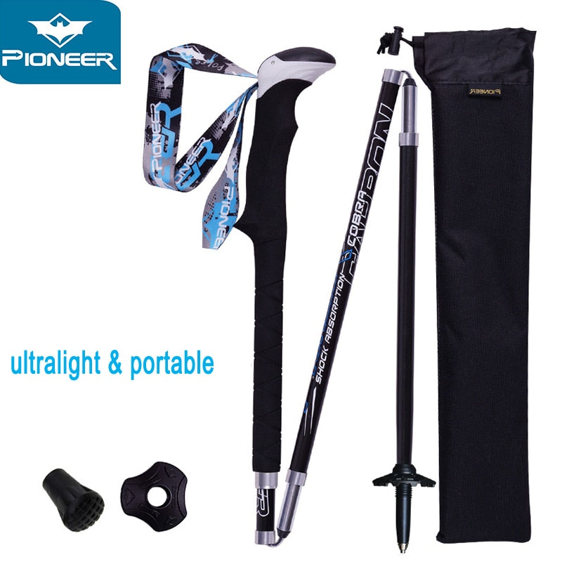 Carbon Fiber Folding Ultralight Walking Sticks Collapsible Cane