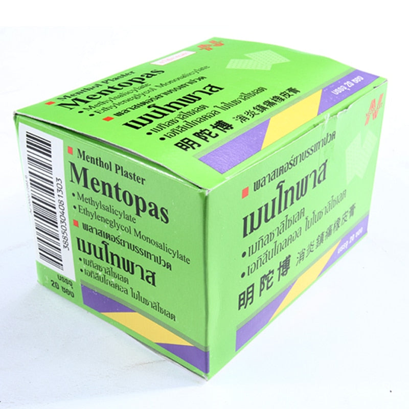 200Pcs/box Thailand Medical Mentopas Pain Relief Plaster