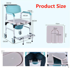 3-in-1 Commode Wheelchair Bedside Toilet & Shower Seat
