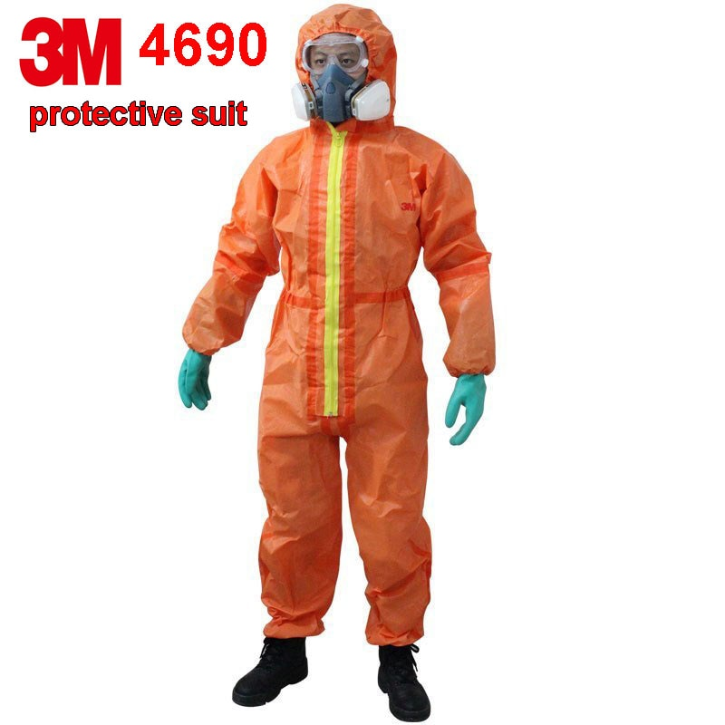 3M 4690 protective suit Nuclear Radiation Protective Chemical Isolation