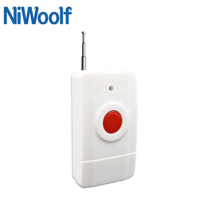433MHz wireless panic button with antenna, one key SOS urgent alarm