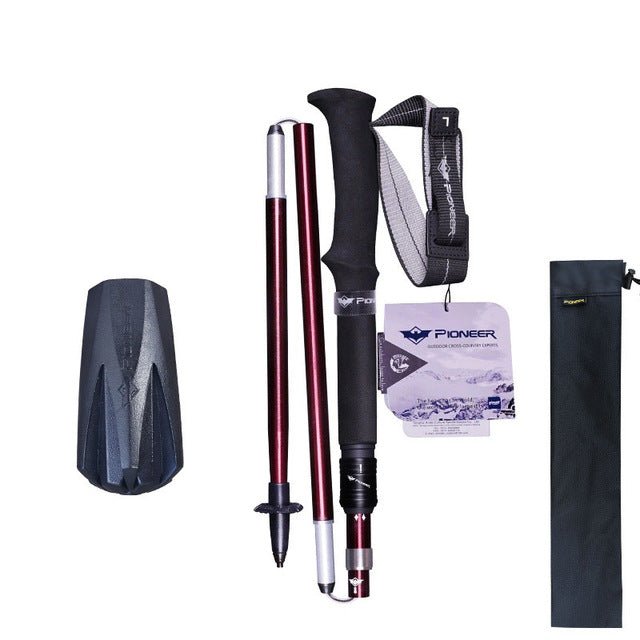 5 Section Folding Ultra-light Cane  Adjustable Pole