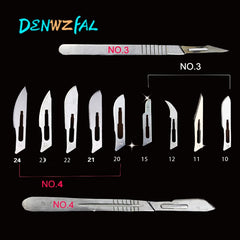 50 Pcs Scalpel Blades For Dental medical  20#/21#/22#/23#/24#