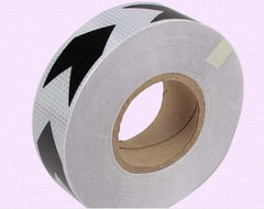 White black arrow reflective self-adhesive safety warning tape