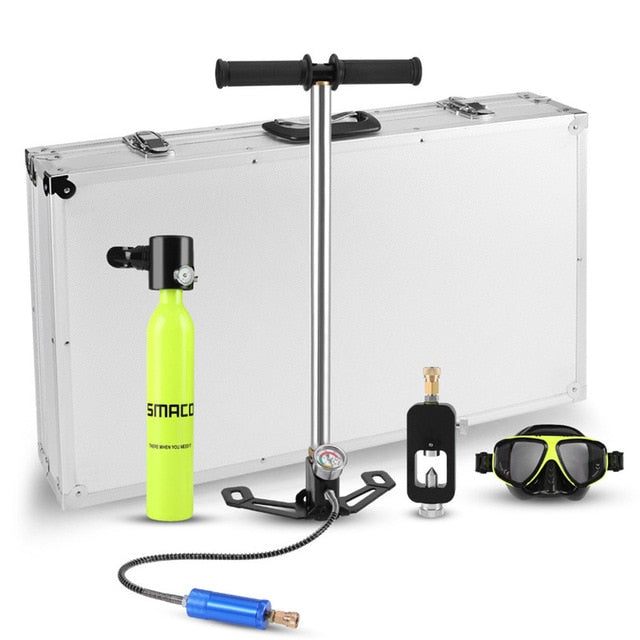 Mini Oxygen Reserve Air Tank Pump Aluminum Box Set