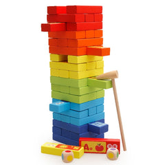 60pcs Kids Classic Game Multicolor Stacking Blocks
