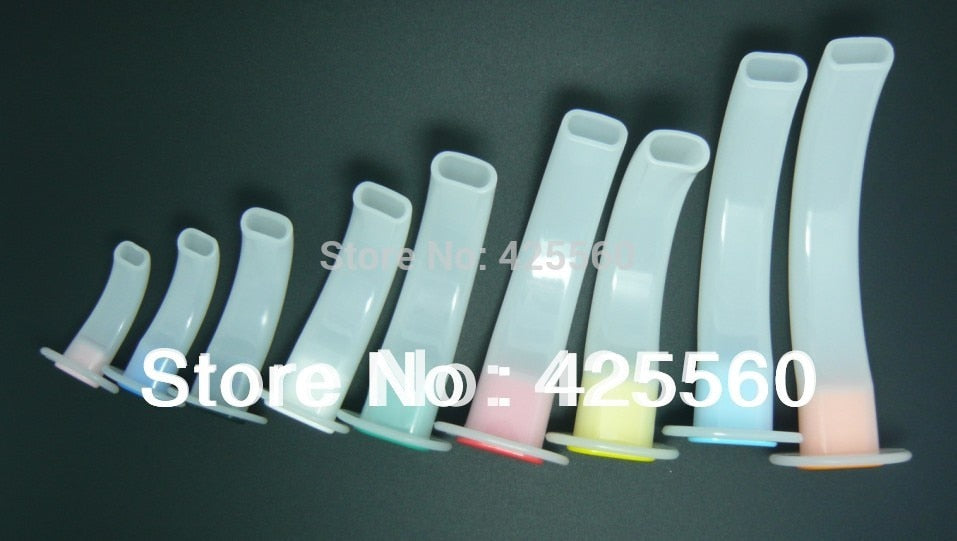 9 Pieces Disposable White Color Coded Airway Tube