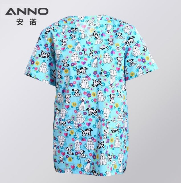 Medical scrubs Set Cartoon Nursing Uniforms
