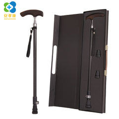 High-grade Gift Box Crutches Ultralight Carbon fiber Wooden T-handle
