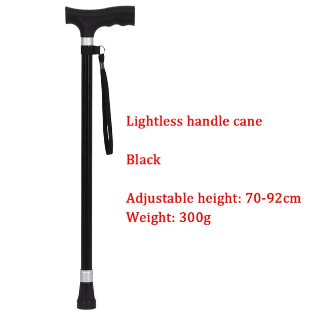Safe Reliable Old Man Crutches Retractable Wear-resistant Multi-function T Handle