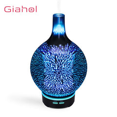 Air Humidifier 100ml 3D LED Lights Ultrasonic Aromatherapy Glass
