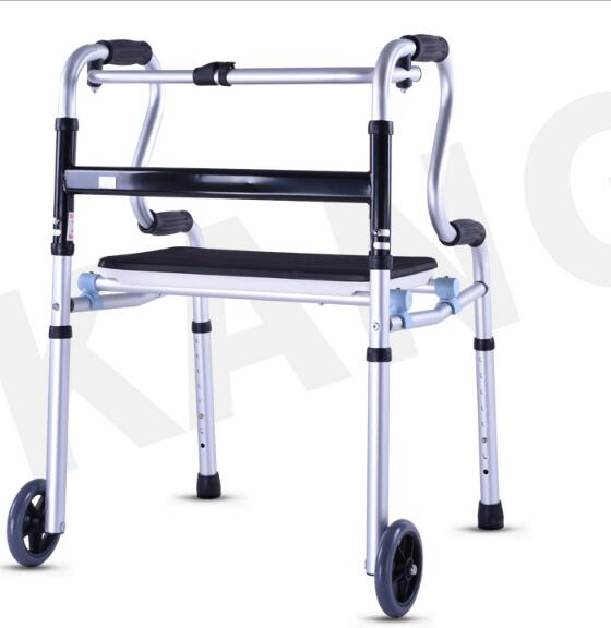 Aluminium alloy Elder helper Walking aids Rehabilitation walker with seat