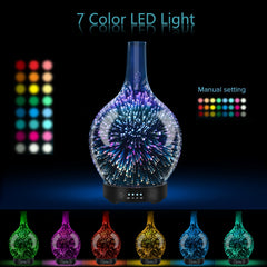 Aromatherapy Essential Oil Diffuser 3D Glass